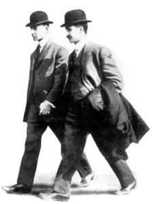 Wilbur, right, and Orville Wright
